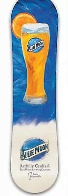 Blue Moon Beer Snow Board Promo Promotional Snowboard New Rare Bluemoon Board