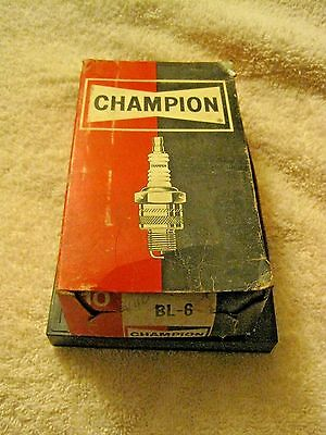 Vintage Champion NEW Old Stock BL-6  Spark Plugs Set of 10