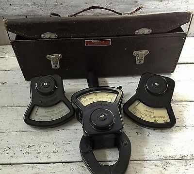 Vintage Columbia Electric MFG.Co. Tong-Test Ammeter Kit With Original  Case