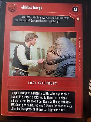 Star Wars CCG Special Edition Jabba`s Through With You NrMint-MINT SWCCG