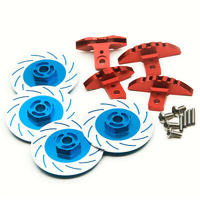 New Aluminum Sport Edition Brake Disc Set For Sakura D4 RC Crawler Car Blue