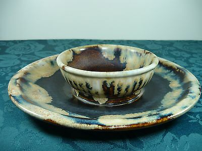 Ardoline Ceramic Dip Bowl And Platter
