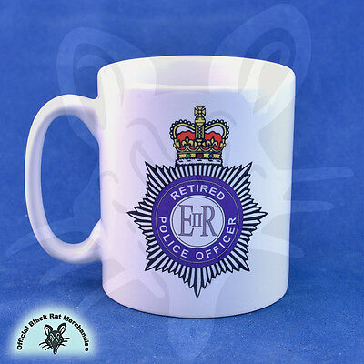Official 'Black Rat' Retired Police Officer mug. Personalisation available.