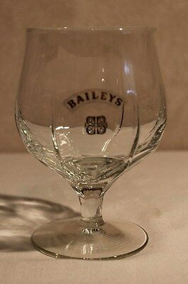 Bailey's Irish Cream Whiskey Snifter Small Pedestal Stemmed Footed Clear Glass