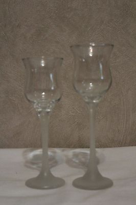 Set of 2 PartyLite Ice Crystal Duo Candle Holders EUC