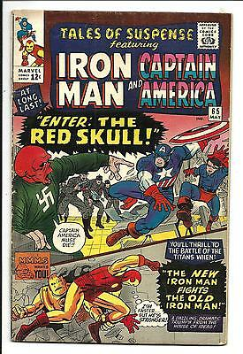 Tales Of Suspense # 65 (Captain America & Iron Man, Red Skull, May 1965), Vg/fn