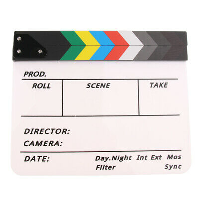 Acrylic TV Film Movie Cut/Action Clapboard Clapper Board Clapperboard Slate 1pc