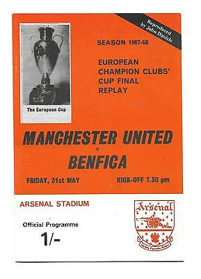 REPRINT 1968 EC final REPLAY? Manchester Utd v Benfica at Arsenal