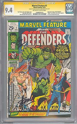 Marvel Feature # 1 CGC 9.4 SS 1st Defenders STAN LEE, ROY THOMAS Sigs 1044052010