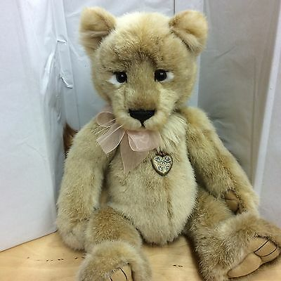 Charlie Bears Lyra Plush Jointed Lioness 17 Inches New With Tag Retired