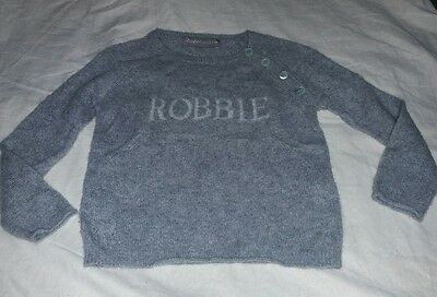 Zadig & Voltaire Little Boys My Creation Zazou Cashmere Sweater ROBBIE Size 4