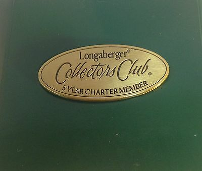 Longaberger Collectors Club 5 Year Charter Member Pin New
