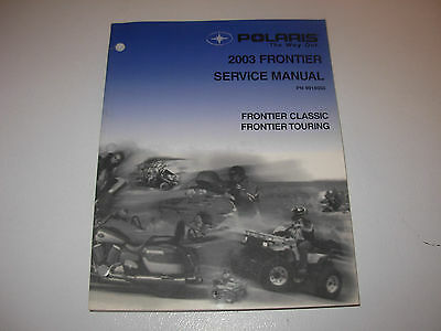 2003 Polaris Frontier , Touring Snowmobile Service Manual with CD , p/n 9918050