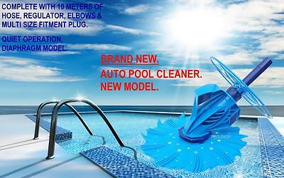 SWIMMING POOL CLEANER AUTOMATIC VACUUM AUTO 10m HOSE BELOW + ABOVE GROUND NEW