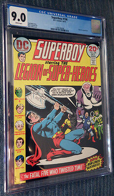 Superboy #198 CGC 9.0 White Pages Legion of Super-Heroes - Fatal Five! Cockrum!