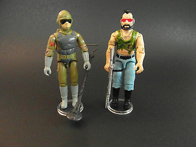GI JOE ACTION FIGURE DISPLAY STANDS FOR VINTAGE FIGURES CLEAR X 50 T6c