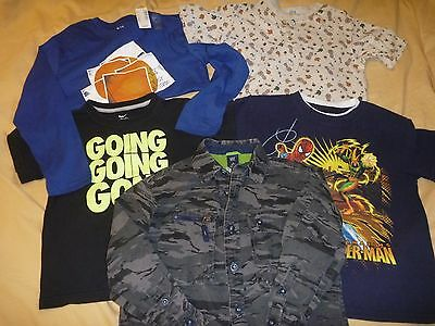 EUC Lot of 5 Boys' Size 7 Tops: Gap, Nike, Gymboree, Childrens Place, Marvel