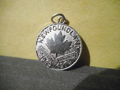 Newfoundland Sterling Silver Charm,1974 Confederation,25 Years