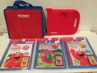 Story Reader learning system + carry bag case & book/cartridge, works great