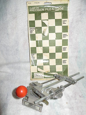 Sears Chain Saw Sharpener Clamp On File & Guide Model # 32-36508