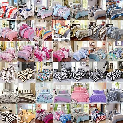 Modern Duvet Cover With Pillow Case Quilt Cover Set Bedding Single Double King