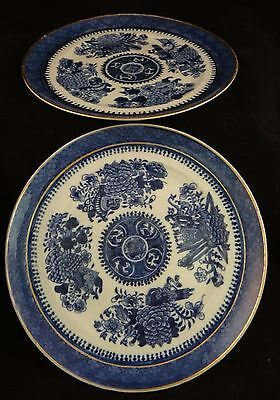 """Pair of Fitzhugh Chinese Export Porcelain 8"""" Plates. 1st 1/3 19th c. 8"""" dia."""