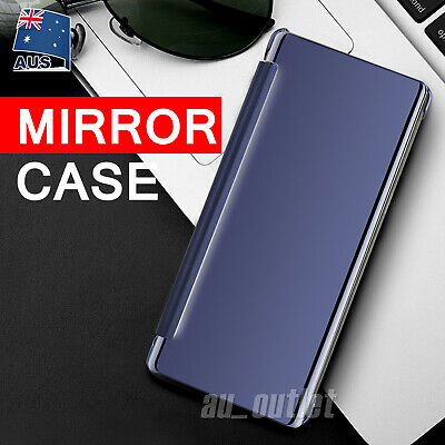 Samsung Galaxy Note 8 / S9 S8 Plus S7 Luxury Mirror Flip Case Cover Slim Smart