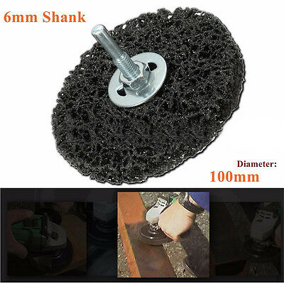110mm Poly Strip Wheel Paint Rust Remover Clean Angle Grinder Discs 6mm Shank