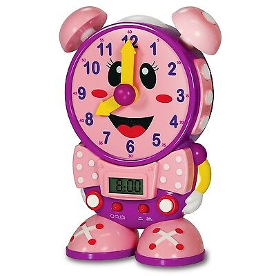 The Learning Journey Telly The Teaching Time Clock Pink