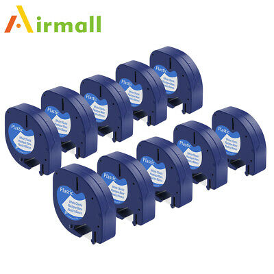 Compatible for DYMO Letra Tag Tapes LT 91331 Plastic Label Tape Value Pack 10pk
