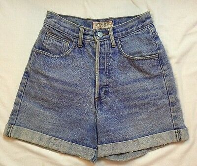 GUESS JEANS Vintage 80's Denim Jean Shorts  Women's Size 26 Red Tag High Waisted