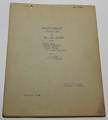Son of Dracula * 1943 Dialogue Continuity Movie Script for the TRAILER * 7 pages