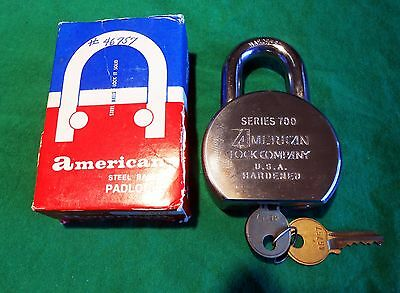 NEW American Lock 700 Hardened Extra Heavy-Duty Padlock R2 Restricted Keyway