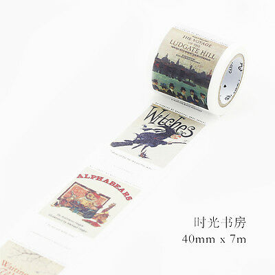 vintage time study alph a bears witch Washi Masking Tape sticker Scrapbook Decal