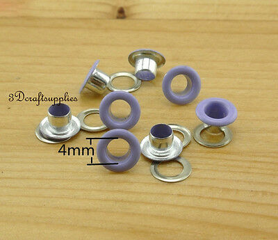 eyelets metal with washer grommets purple round 100 sets 4 mm AC72M