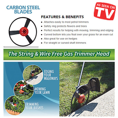 New Orbitrim Trimmer No String Steel Solid Head For 99% Gas As Seen On TV