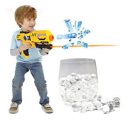 10000pcs Mini 8mm Clear Jelly Water Balls Bullets for Toy Gun Kid Gift Play Game