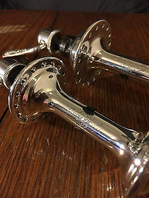 Vintage Campagnolo Nuovo Record 32 Hole Hub Pair *Mirror Polished* Super 1960s