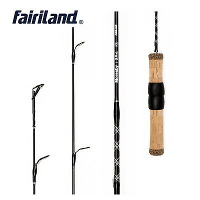 1 Section Ice Fishing Rod Made of SOLID CARBON 100% 2'/2.4' Ice Rod