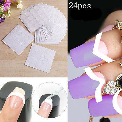 UK 24 X 3D Nail Art Transfer Stickers Design Manicure Decal Decoration Tips Set