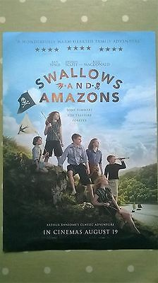 'Swallows and Amazons.' A3 Film Poster. 2016.