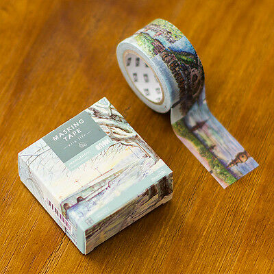 hangzhou Heaven on earth Washi paper Masking Tape stickers Scrapbook label Decal