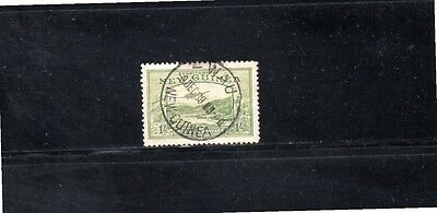 """Territory of New Guinea 1939 1/- Bulolo Goldfields """"Airmail Postage"""" SG 221 Used"""