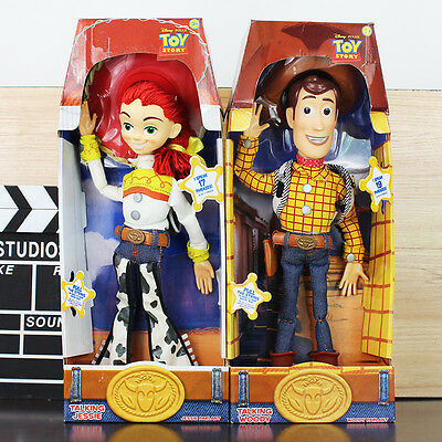 "REAL Toy Story 3 Pull String WOODY JESSIE 15"" Talking  Action Figure Doll Toy UK"