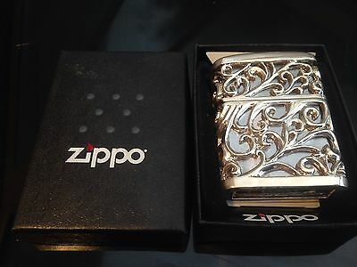 Rare Zippo Lighter 3D Japanese Jacket Armour Case Solid Silver Custom Collectors