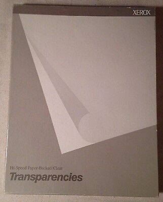 Xerox Transparencies paper backed clear 100 sheet opened box 3R3028 Copier new