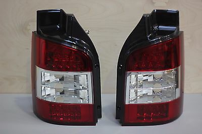 Tailgate Clear Rear Led Tail Lights Lamps For Vw Volkswagen T5 Transporter