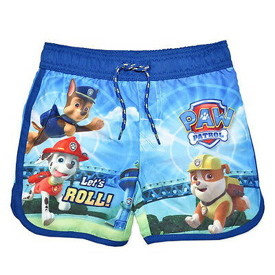 Paw Patrol board swim shorts boardie 'Let's Roll' - Chase, Marshall, Rubble