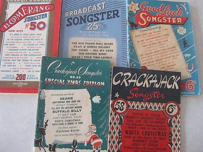 songster books x 5     take a look