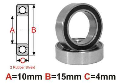 AT Bearing 10x15x4mm RS chrome steel rubber sealed
